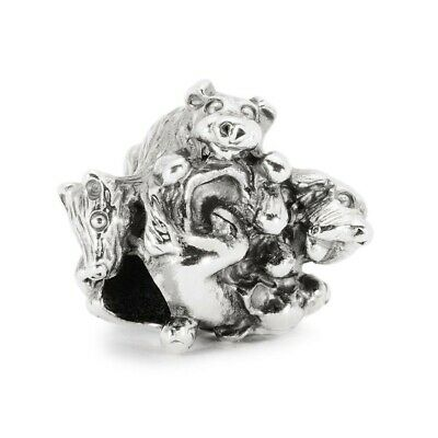 £25 • Buy Trollbeads Silver Family Of Puppies Charm, Retired
