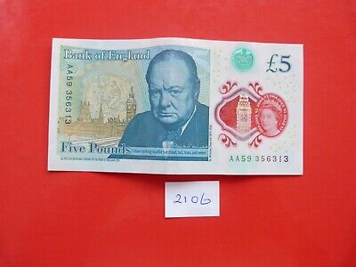 £6 • Buy AN AA Numbered £5 POLYMER CIRCULATED NOTE AA59 356313