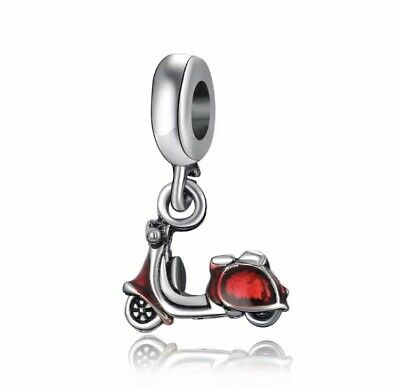 £10.99 • Buy Sterling Silver 925 Stamped Red Scooter Charm Comes With Velvet Bag, Motorcycle: