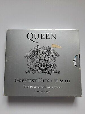 £2.99 • Buy Queen, Greatest Hits 1,2,3. The Platinum Collection, 3 Picture Cd, Fatbox + Case
