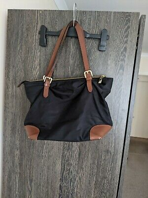 £12 • Buy M&S Autograph Leather Trim Small Tote Bag Black / Brown