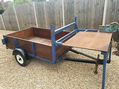 £650 • Buy 6ft X 4ft Heavy Duty Trailer With Built In Work Bench  And Vice .