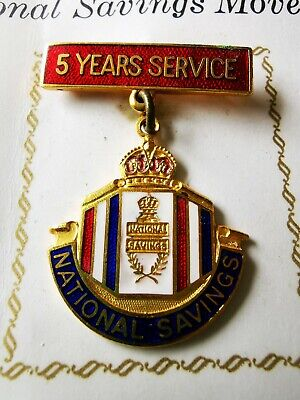 £5.99 • Buy WWII National Savings Movement 5 Years Service Pin Badge Home Front War Effort