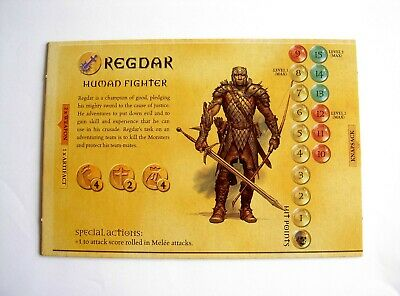 AU7.50 • Buy #946 Dungeons And Dragons Boardgame Parker 2003 Spares - Hero Board Regdar