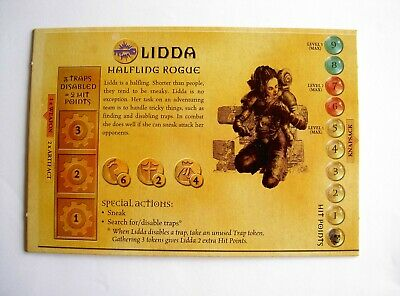 AU7.50 • Buy #947 Dungeons And Dragons Boardgame Parker 2003 Spares - Hero Board Lidda
