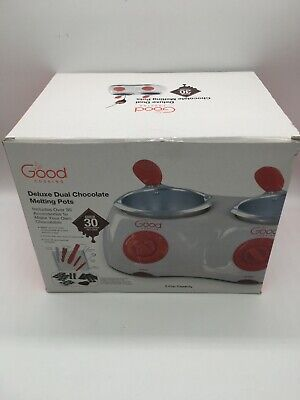 £25.65 • Buy Good Cooking Deluxe Dual Chocolate Melting Pots W/ Accessories - NIB