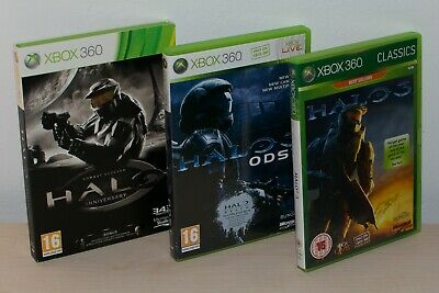 £10.99 • Buy Halo CE Anniversary, Halo 3 And Halo ODST Bundle For Xbox 360