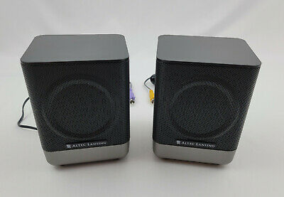 £29.24 • Buy Altec Lansing Model 251 Left And Right Rear Speaker Set With Stands