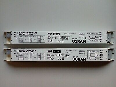 £14.90 • Buy 2 X OSRAM Quicktronic Fit T5 Electronic Ballast QT-FIT5 For 2 X 14-35 W T5 Tubes