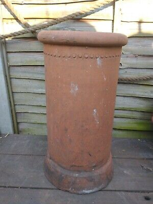 £41.63 • Buy  Reclaimed Terracotta Chimney Pot With Lovely Stamped Pattern At The Top
