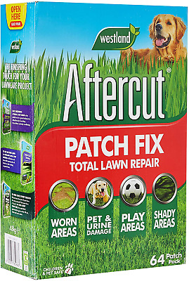 £16.27 • Buy Aftercut Total Lawn Repair Patch & Repair Pets Dogs Grass Seed Fix 64 Patches