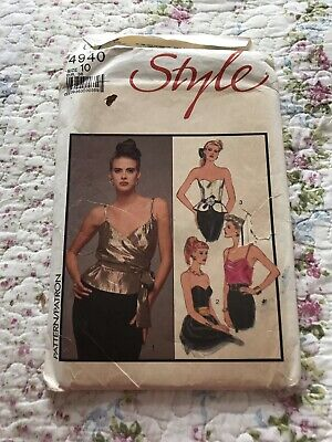 £1.90 • Buy Vintage Style Sewing Pattern Ladies Cami & Boned Strapless Tops Uncut Size 10