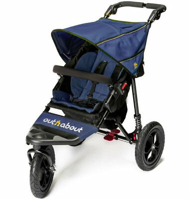 £299 • Buy Brand New In Box Out N About Nipper Single 360 V4 Pushchair Royal Navy And Pvc