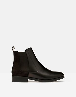 £26 • Buy Joules Womens Chelmsford Leather Chelsea Boot - Black - Adult 4