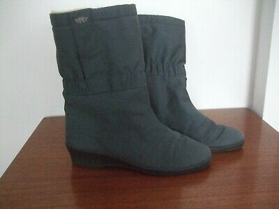 £16 • Buy Rohde Germany Sympatex Wool Lined Boots 6 Wedge Grey (see Also Brown!)