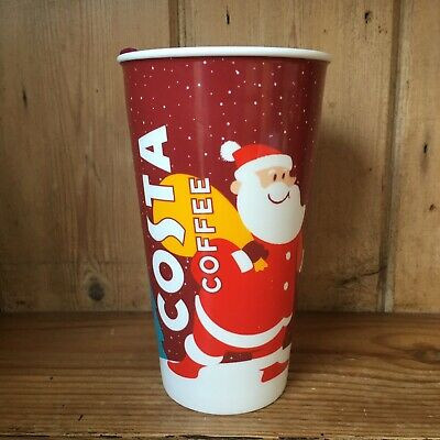 £15.99 • Buy Costa Coffee Ceramic Christmas Cup Take Away Travel Cup With Lid Santa 2019
