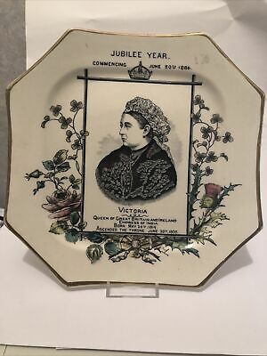 £20 • Buy Queen Victoria - Jubilee Year 1886 - Octangle Plate Pristine Condition