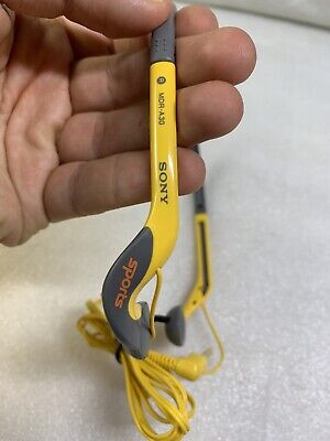AU80.10 • Buy Sony Sports Lightweight Headphones Foldable Yellow/Gray MDR-A30 ****MINT****