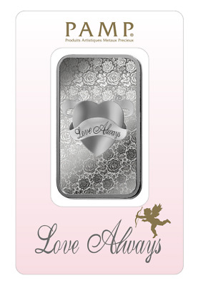 £51.15 • Buy 1 Oz Pamp Suisse LOVE ALWAYS .999 Fine Silver Bar Classic Design In Assay