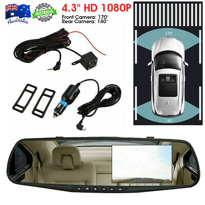 AU43.99 • Buy Front And Rear Car Dash Camera Dual Camera Dash Cam Video DVR Recorder FHD Touch