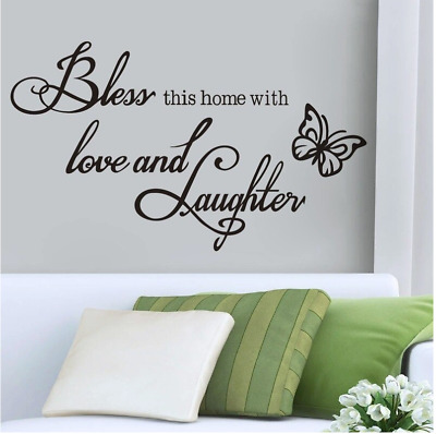 £1.46 • Buy Wall Decor Butterfly Proverbs Removable Wall Sticker Love And Laugh Wall Decorat