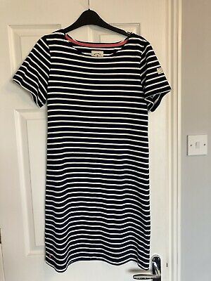 £11.99 • Buy Joules Casual Navy&white Stripe Dress Size 12 Cotton
