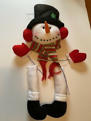 £7.22 • Buy Snowman 5 Piece Deco Kit Christmas Hat Scarf Boots Red White Green Wreath New
