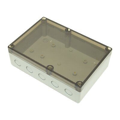 £9.05 • Buy Sealed ABS Plastic Enclosure Clear Lid Electronics Case Box IP65 180x125x59mm