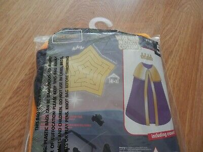 £4.99 • Buy Wise Men Age 3-7 Years Nativity Costume With Crown.New In Pack.