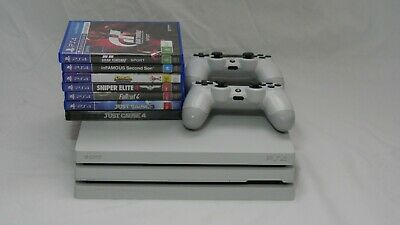 AU275 • Buy Sony PlayStation PS4 Pro 1TB White 2 Controllers + 7 Game Bundle