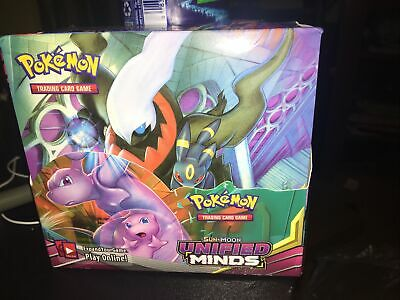 $76 • Buy Pokemon Sun & Moon Unified Minds Booster Box - Factory Sealed - 36 Packs