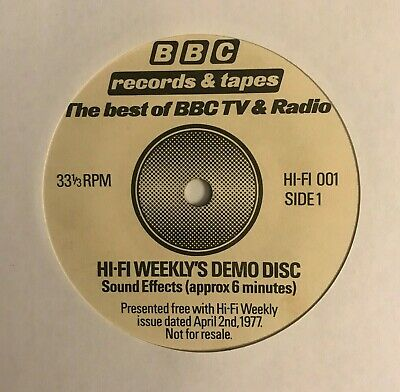 £3.99 • Buy  Hi-Fi Weekly's Demo Disc   7  (1977) Sound Effects /  BBC Records / LOG7