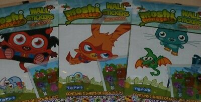 £1.50 • Buy Topps Moshi Monsters Wall Stickers