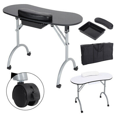 £59.95 • Buy Foldable Manicure Nail Art Table Beauty Salon Mobile Work Desk With Carry Bag UK