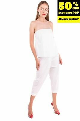 £0.99 • Buy RRP €125 RAME Capri Jumpsuit Size 0 / XS White Layered Drop Crotch Made In Italy