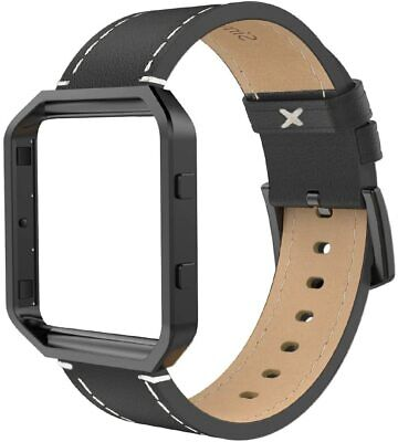 AU43.96 • Buy Leather Band Compatible With Fit Bit Blaze, Large Size With Frame, Genuine