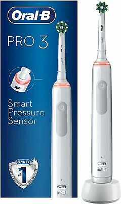 AU54.73 • Buy Oral-B PRO 3 3000 CrossAction Electric Toothbrush - White  ✅