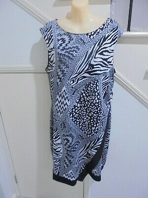 AU16.99 • Buy Crossroads Size 14 Black White Lined Special Occasion Dress