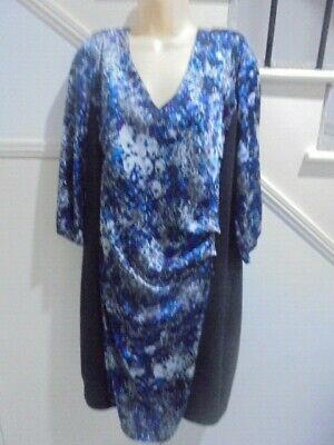 AU16.99 • Buy AVELLA SIZE 22 Blue Black Satiny SPECIAL OCCASION DRESS 'PERFECT'