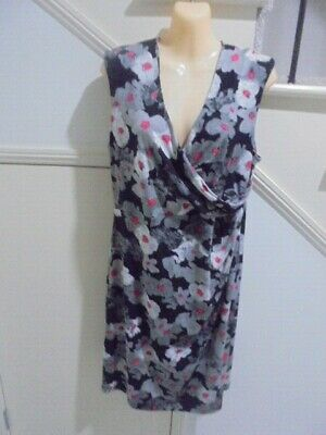 AU19.99 • Buy BASQUE SIZE 14 Stunning Black Grey Red DRESSY SPECIAL OCCASION DRESS