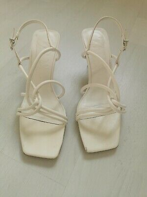 £10 • Buy ZARA High Heeled Sandals With Tube Straps Size 7