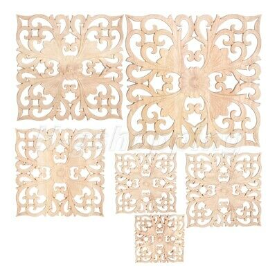 AU4.99 • Buy European Wooden Carved Decal Onlay Door Window Furniture Applique For Home Decor