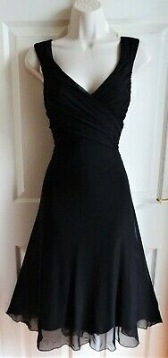 AU5.63 • Buy NEXT Black Ruched Wrap Empire Bust Evening Occasion Cocktail Party Dress Size 12