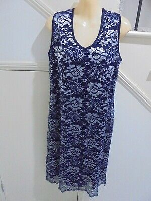 AU17.99 • Buy MILLERS SIZE 16 Gorgeous NAVY SILVER Lace SPECIAL OCCASION DRESS