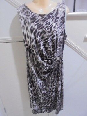 AU12.99 • Buy MILLERS SIZE 16 Stunning Brown Black White Special Occasion DRESS