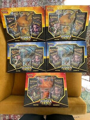 $26 • Buy Pokemon Hidden Fates GX Collection Box SET OF 5 With All ART SET - NEW/SEALED
