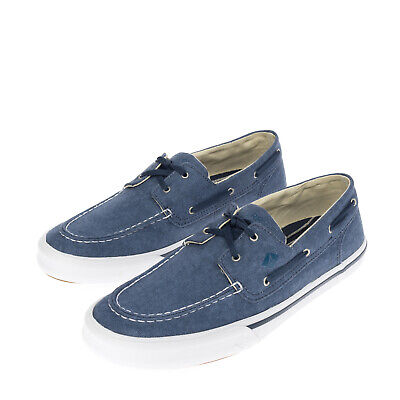 £19.99 • Buy SPERRY TOP-SIDER Canvas Deck Sneakers Size 44 UK 9.5 US 10.5 Garment Dye Lace Up