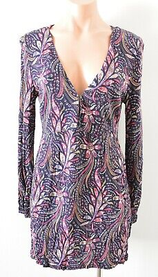 AU36 • Buy Tigerlily Dress Womens Size 10 Purple Pink Floral Long Sleeve