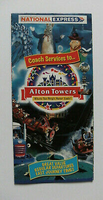 £1.95 • Buy 1996 National Express Coach Services To Alton Towers Timetable