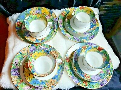 £65 • Buy Antique Paragon China - Part Teaset And Creamer - Springtime Pattern